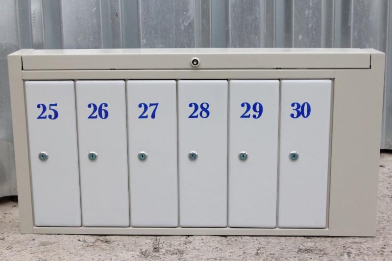 Почтовый ящик 6-ти секционный горизонтальный «антивандальный»