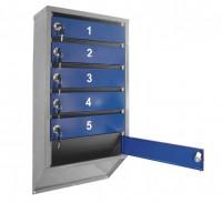 Почтовый ящик 6-ти секционный вертикальный