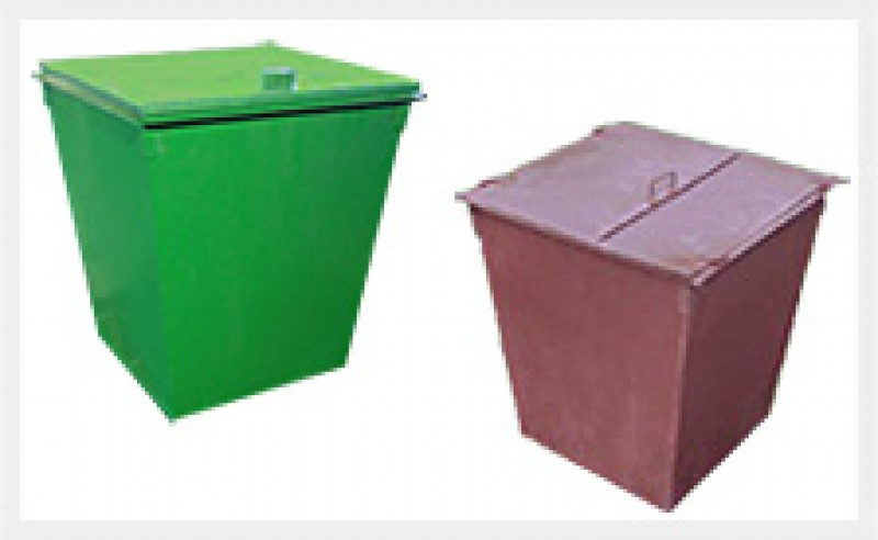 Крышка контейнера металлическая