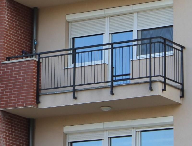 Ограждение металлическое балконное
